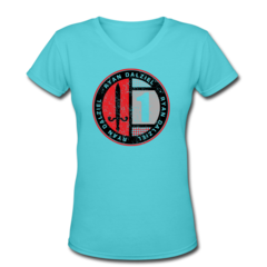 Women's V-Neck T-Shirt by Ryan Dalziel