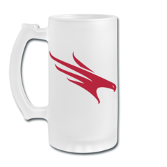 Frosted Glass Beer Mug by Firehawks Lacrosse Club