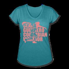 Women's V-Neck Tri-Blend T-Shirt by Clara Guerrero